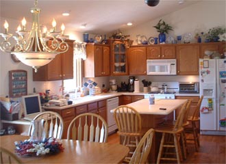Remodeled Kitchen by Advanced Custom Homes and Remodeling - servicing all of LaPorte, Indiana